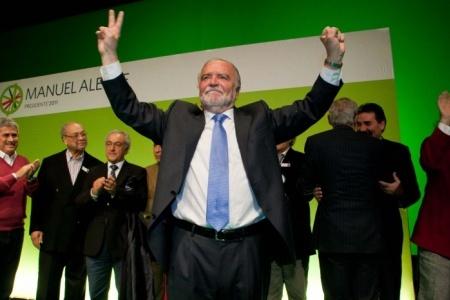 Manuel Alegre confiante e patriótico
